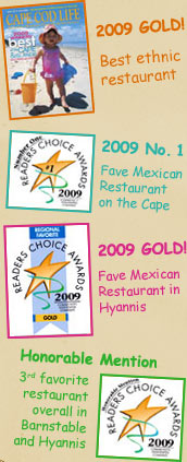Cape Cod Life and The Cape Cod Register Reader's Choice Awards for Sam Diego's